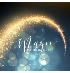 Starry glitter trail background vector