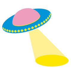 Unidentified flying object with a searchlight vector
