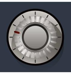 Volume settings sound control knob vector image
