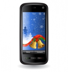 Christmas cell phone vector image