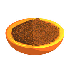Plate of buckwheat food item rich in proteins vector