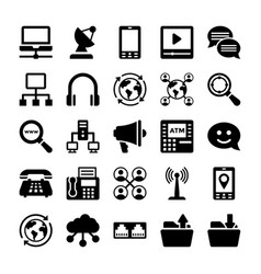 Network and communication icons 12 vector