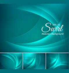 Curvy abstract background aquamarine vector