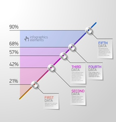 Business diagram infographics element vector