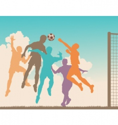 soccer game vector image