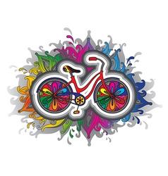 decorative bicycle vector image