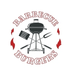 Barbecue logo template vector