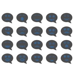Chat emotion smile icons vector