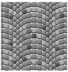 Seamless cobblestone pavement pattern vector