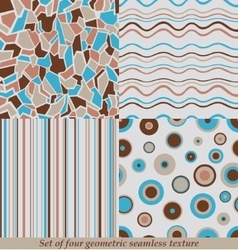 Trendy colorful seamless patternscollection vector