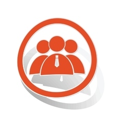 User group sign sticker orange vector