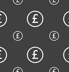Pound sterling icon sign seamless pattern on a vector