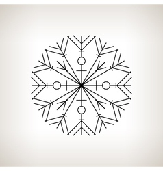 Snowflake happy new year vector