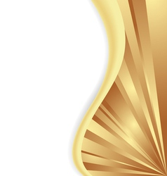 gold wave vector image