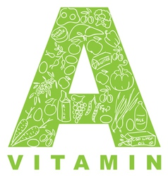 vitamin a vector image