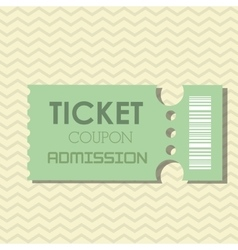 Ticket icon design vector