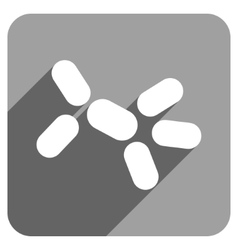 Yeast flat square icon with long shadow vector