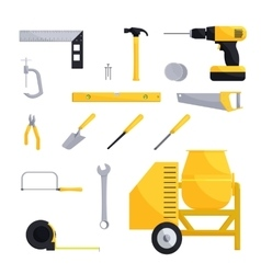 Engineering and construction icon set vector