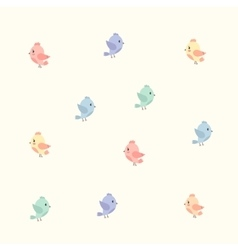 Background with colourful birds vector