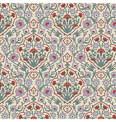 Arabesque seamless pattern with carnations vector image vector image