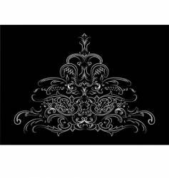 baroque calligraphy vector image