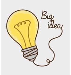 Big idea and creative thinking vector