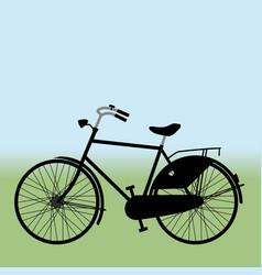 black bicycle vector image vector image