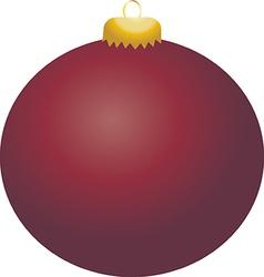 Burgundy ball ornament vector