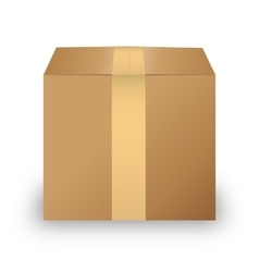 Carton box isolated on white background vector image