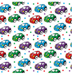 children s toy car seamless texture car vector image vector image