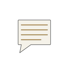 comment solid icon speech bubbles vector image