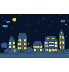 Cute street night vector