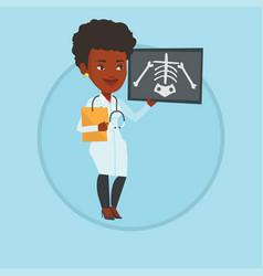 Doctor examining radiograph vector