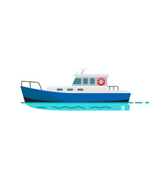 Fishing vessel speedboat marine nautical transport vector