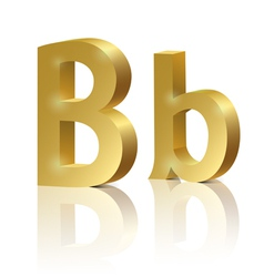 Golden letter B vector image