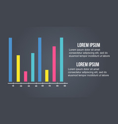 Graph colorful design for business infographic vector