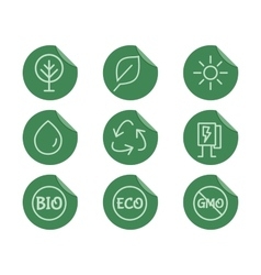 Green Ecology and environmental protection vector image
