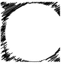 grunge black ink border frame background vector image vector image