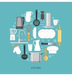 Kitchen round composition vector