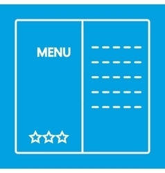 Menu thin line icon vector image