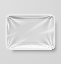 Plastic food container vector image vector image