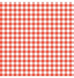 Red checkered tablecloths patterns vector