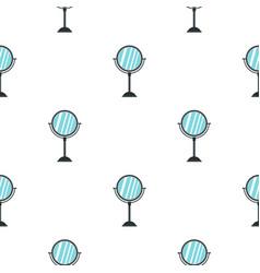 Round mirror pattern flat vector