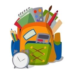 School bag isolated vector image