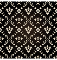 seamless vintage wallpaper background floral black vector image vector image
