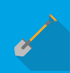 Shovel icon in flat style isolated on white vector