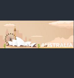 travel banner to australia flat vector image