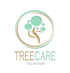 Tree care logotype Stock vector image vector image