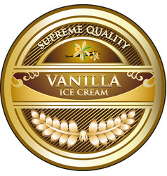 Vanilla ice cream vector