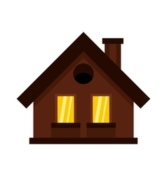 Small cottage icon in flat style vector